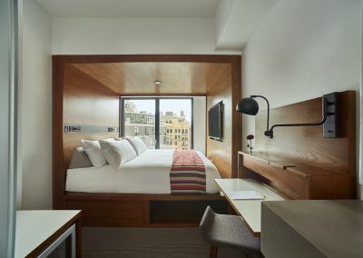 Maximizing space with custom bed frames.