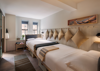 Maximizing space with twin beds.